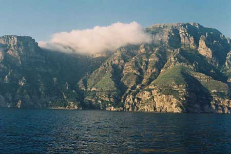 The Amalfi Coast from the water